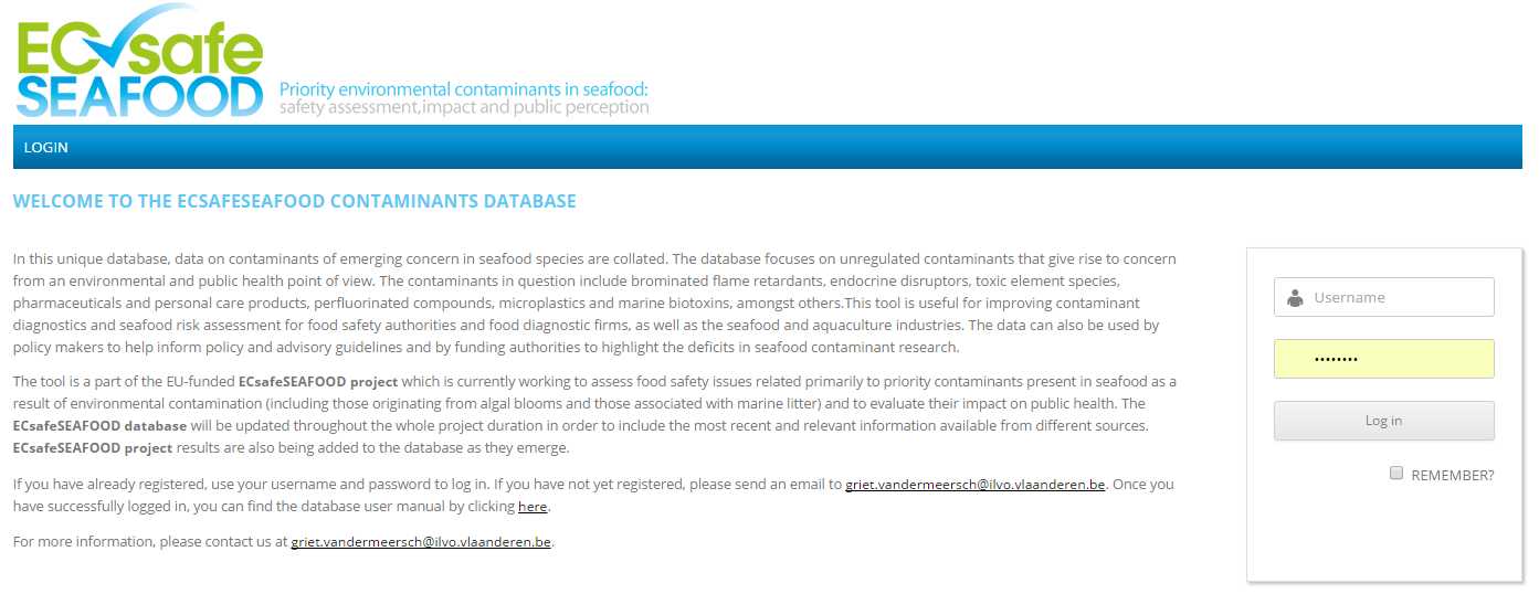Contaminants Database
