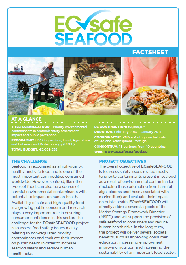ECsafeSEAFOOD factsheet 2015 screen grab
